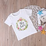 FIZUOXVE Infant Girls Short Sleeve Lovely Floral