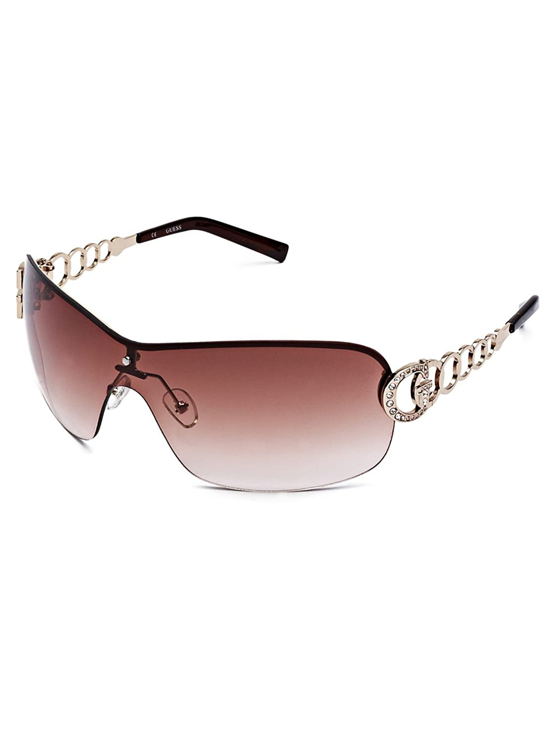GUESS Women's Rimless Shield Sunglasses