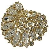 Ammonite Gold Plated Swarovski Elements Crystal Brooch