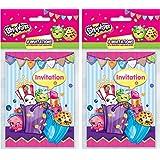 Shopkins Invitations, 8ct (2 Pack)