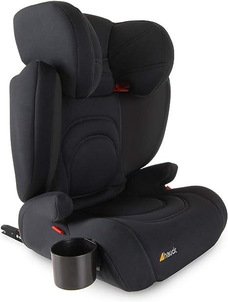 Hauck Bodyguard Pro - Sillas de coche Grupo 2/3 para niños de 3 a 12 años (15-36kg), con portavasos, ligero, ajustable, textil elástico transpirable, negro: Amazon.es: Bebé
