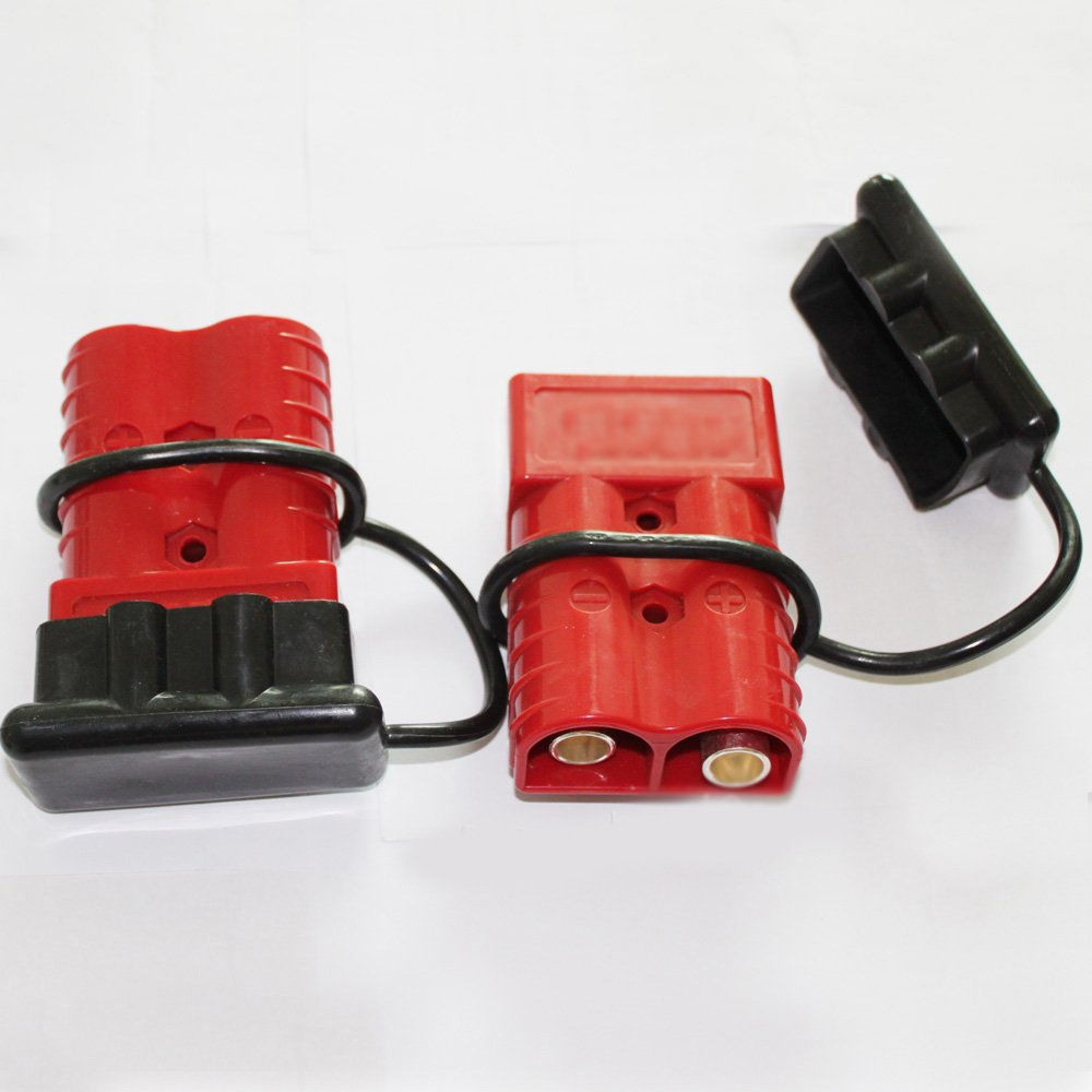 X-Haibei Battery Quick Connector Kit 175A 1//0 AWG Plug Connect Disconnect Winch Trailer BT0185 RED