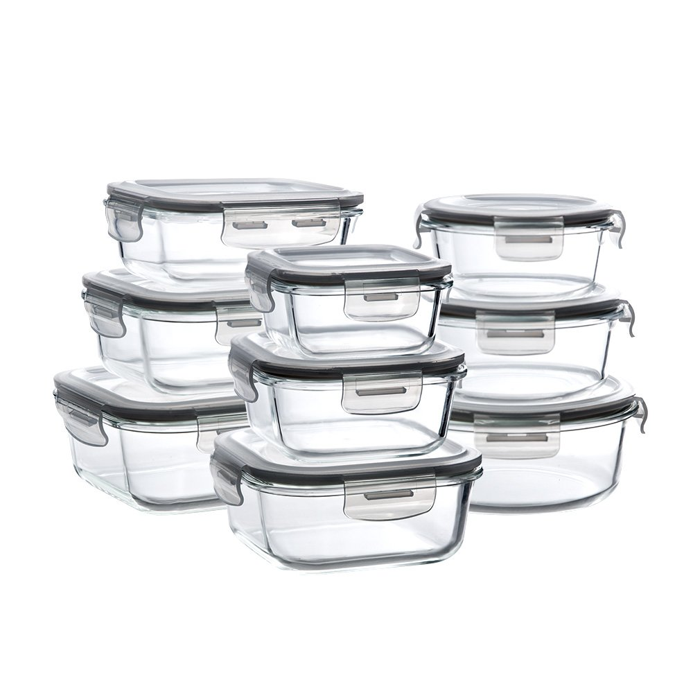 Details about Set of 9 Pack Pyrex Glass Food Storage Meal Prep Containers  with Lids & 9 sizes