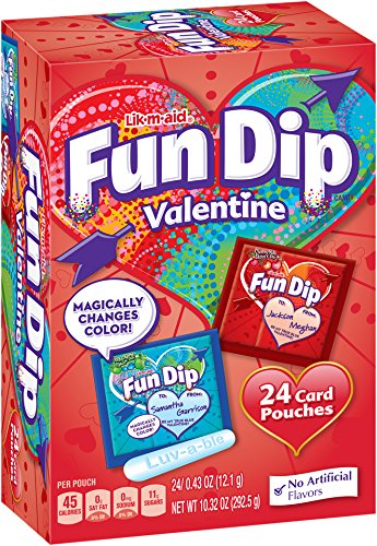 (LIK-M-AID Fun Dip Valentine Candy and Card Kit, 10.32 Ounce)