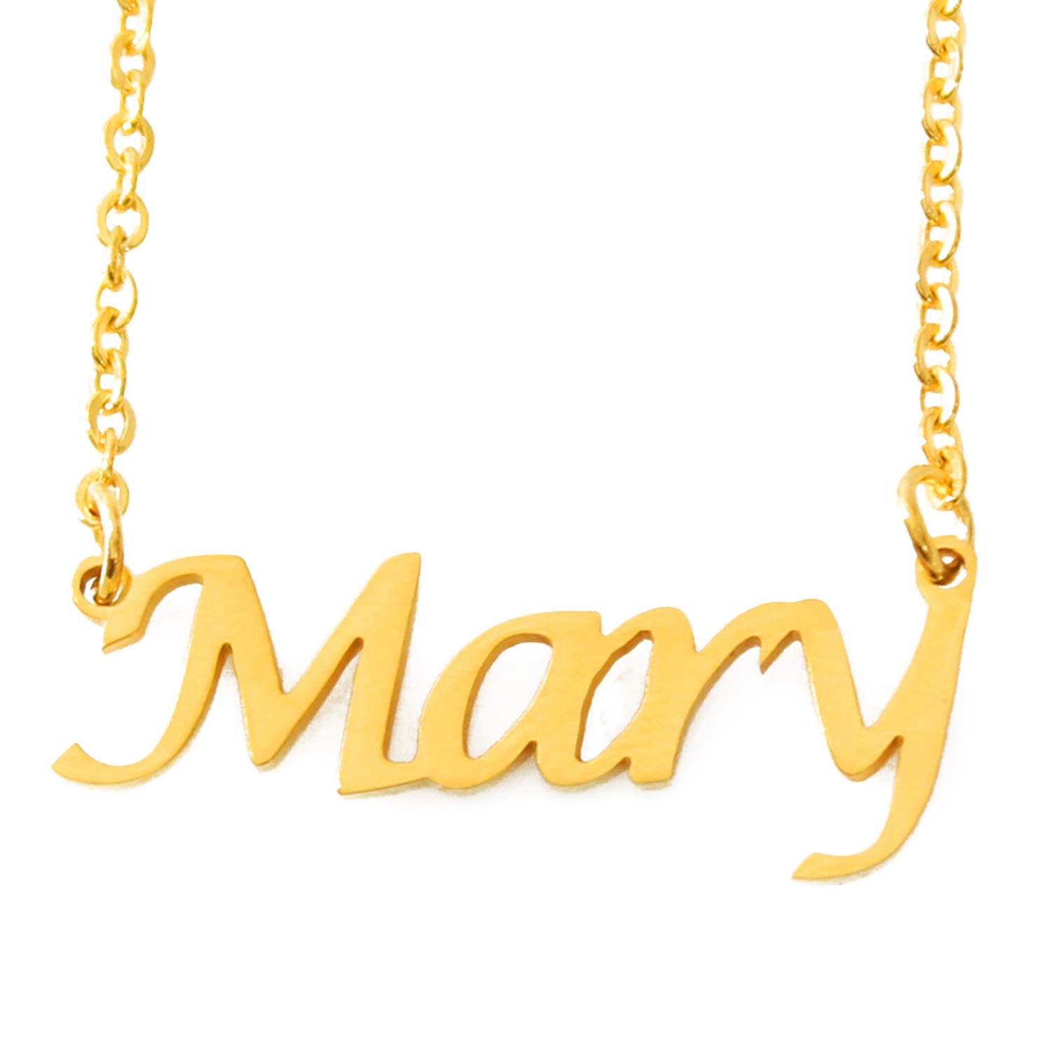 68ec779dfb6d7 Amazon.com: Mary Name Necklace - 18ct Gold Plated: Jewelry