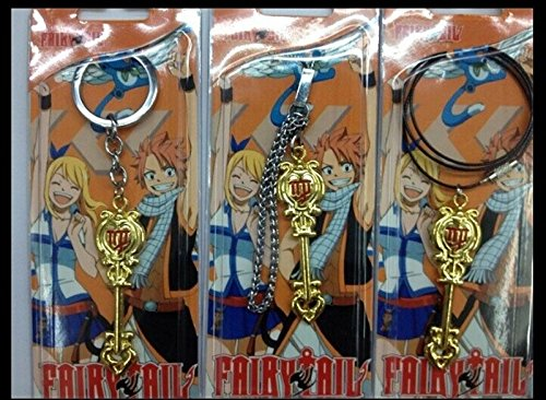 Etosell Fairy Tail Constellation Magister Lucys Zodiac Magic Necklace Metal Key Chains ,Character:Virgo;Design:Necklace