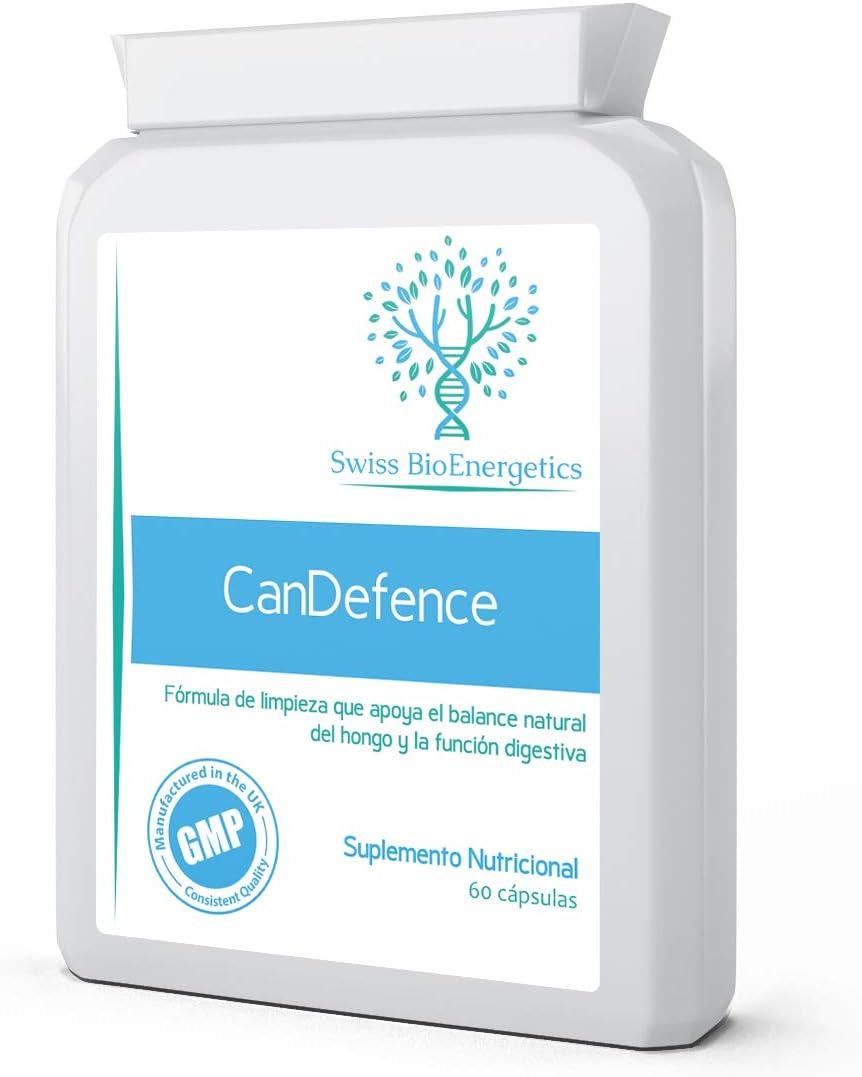 CanDefence 60 cápsulas - Fórmula extra fuerte para la limpieza de la cándida - apoya el equilibrio natural del hongo - con probióticos añadidos - diseñado para limpiar la infección por cándida/hongos