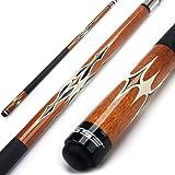 Iszy Billiards 58-Inch Hardwood Canadian Maple Pool Cue Billiard Stick with Irish Wrap 21-Ounce 2-Piece Brown//Black
