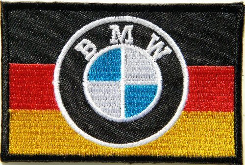 BMW German Germany Flag Motorrad Motorcycle Logo Sign Biker Racer Racing Patch Iron on Applique Embroidered T shirt Jacket Costume Gift BY SURAPAN