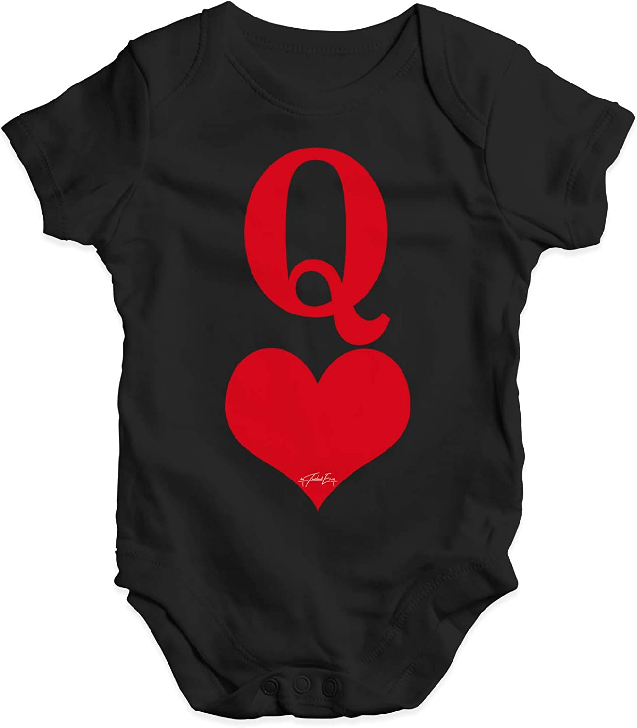 Twisted Envy Personalised Cupid Heart Baby Unisex Funny Baby Grow Bodysuit