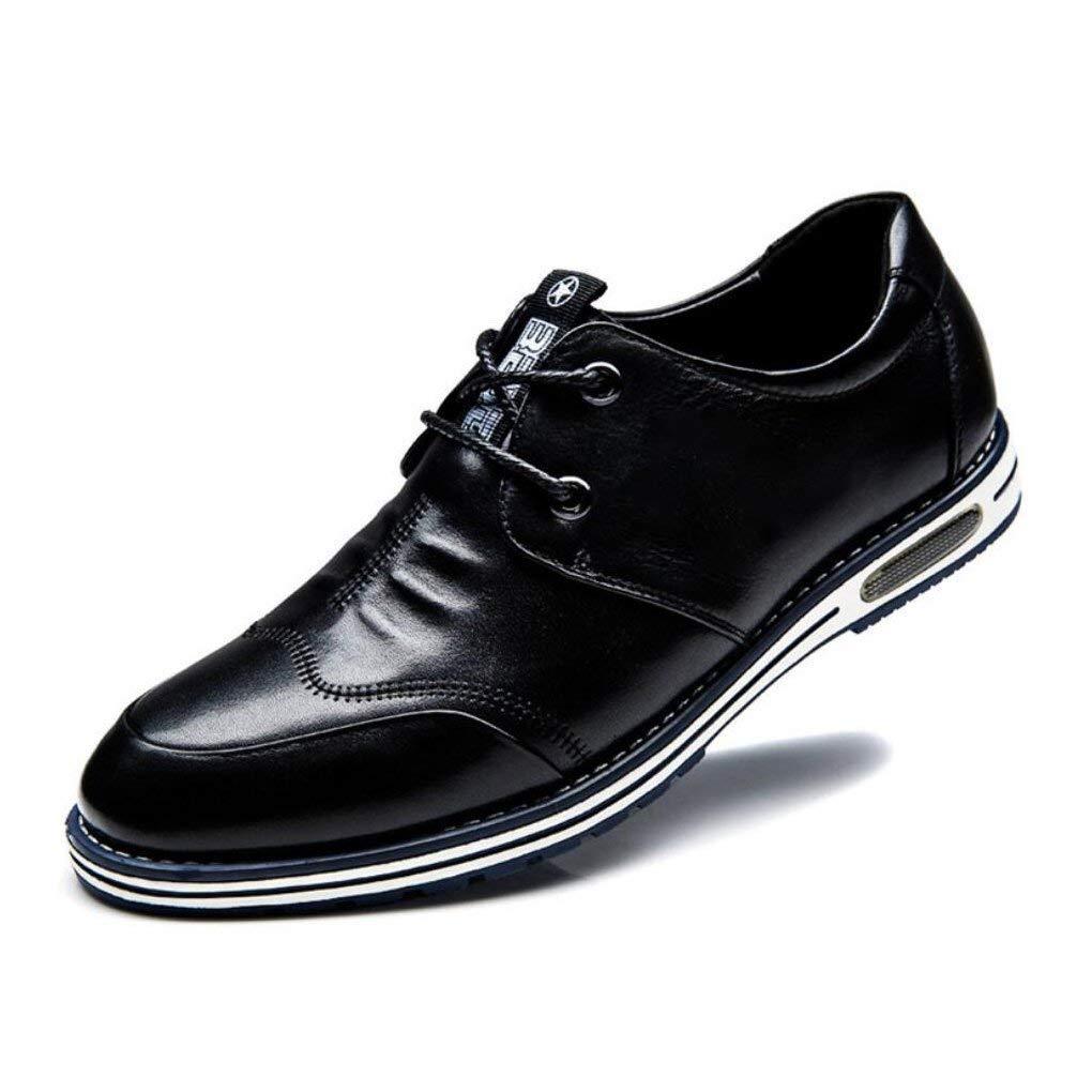 Formale Schuhe der Männer, Koreanische beiläufige Lederschuhe der Männer, Spitze Schuh-Schuhe, Sommer Mode-Wilde Bequeme Breathable Schuhe, (Farbe   Blau, Größe   39) ( Farbe   Schwarz , Größe   43 )