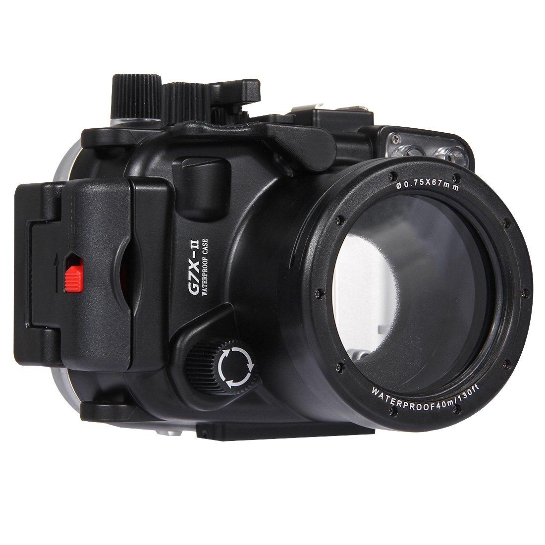 PULUZ 40m Underwater Depth Diving Case Waterproof Camera Housing for Canon G7 X Mark II