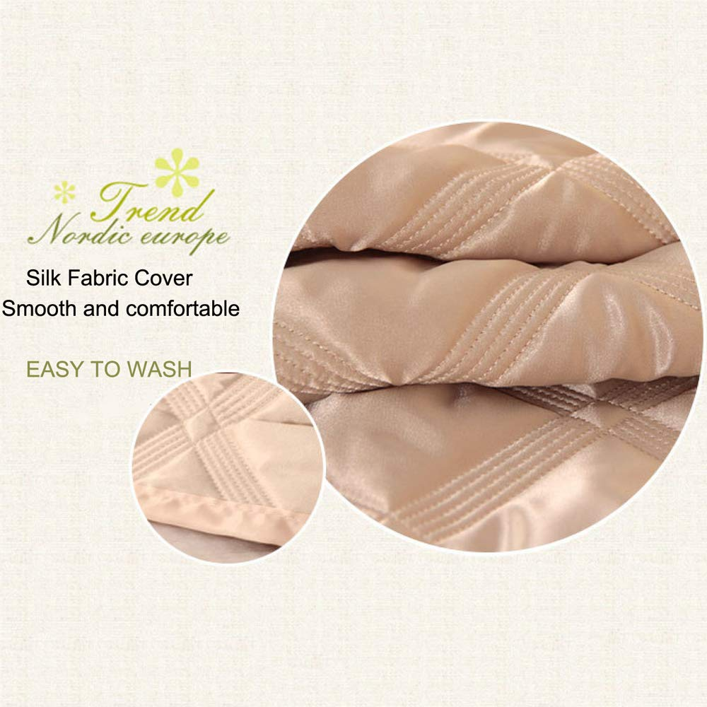 LZTET Fabric Bedside Cover Wood Bed Head Simulation Silk Dust Cover Removable and Washable,Beige-1806010cm by LZTET (Image #5)