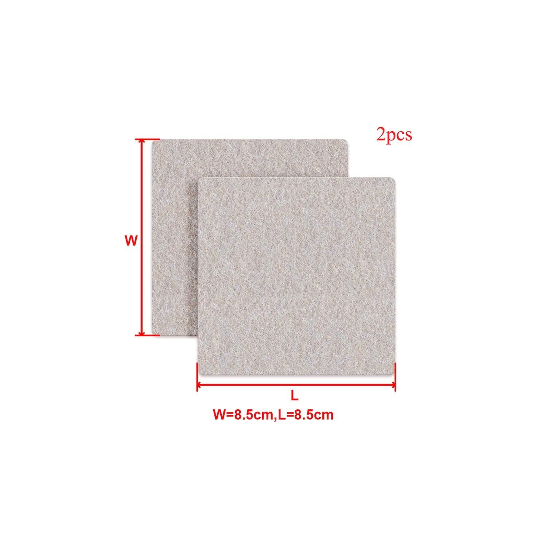 8/16/24pcs/lot Chair Leg Pads Floor Protectors for Furniture Legs Table Leg Covers Round Bottom Anti Slip Pads Rubber Feet,2Pcs 8.5x8.5cm