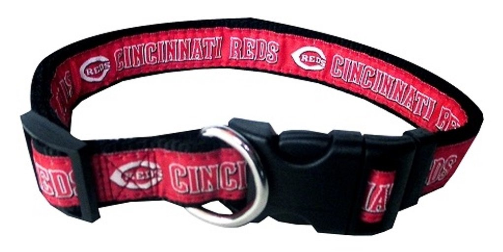 Pets First Cincinnati Reds Nylon Collar and Matching Leash for Pets MLB Official Size Large