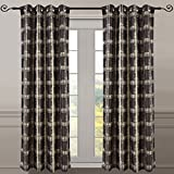 """""""Set of 2 Panels 104″Wx63″L -Royal Tradition -Chocolate- Abstract Jacquard Studio Curtain, 52-Inch by 63-Inch each Panel. Package contains set of 2 panels 63 inch long"""""""