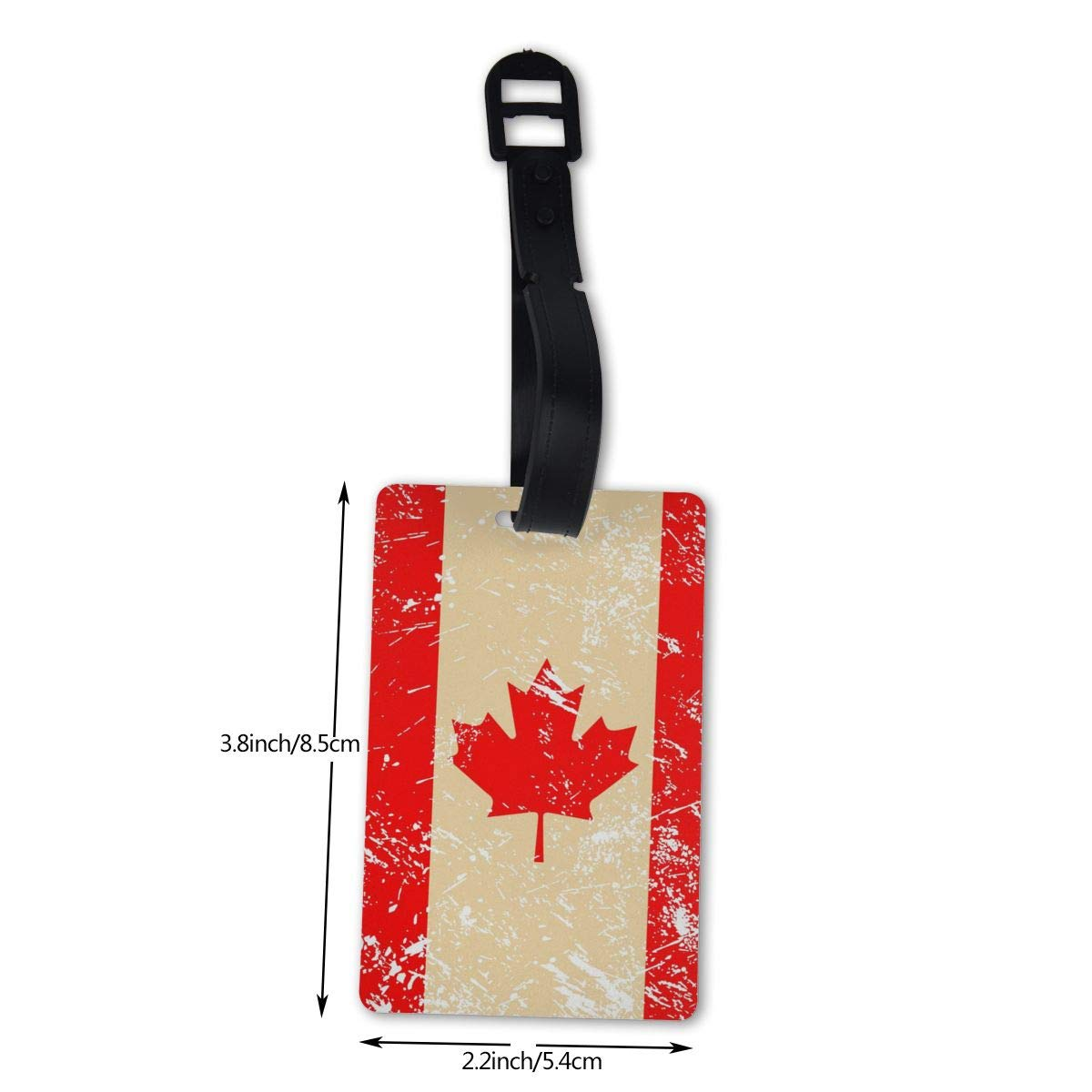 NB UUD Canada Retro Flag Travel Luggage Tag Cool Employees Card Luggage Tag Holders Travel ID Identification Labels for Baggage Suitcases Bags