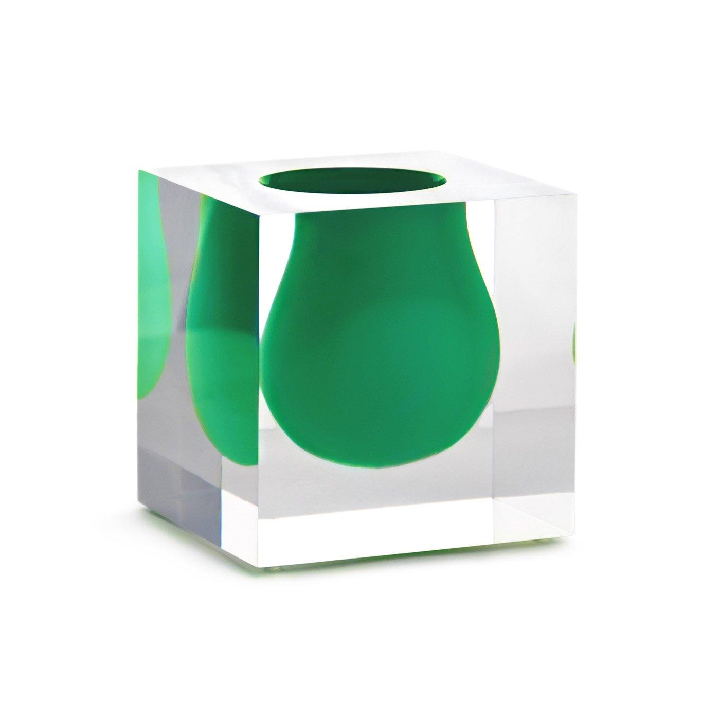 """Jonathan Adler 4.25"""" Bel Air Mini Scoop Vase - Emerald"""