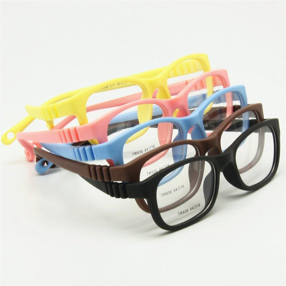 b9aae4e9e2b EnzoDate Flexible Kids Eyeglasses Frame Size 44  16 TR90 Children Glasses