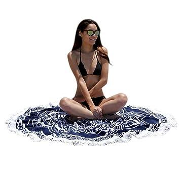 coperta casa Kolylong telo rotondo da spiaggia doccia per piscina tovaglia e yoga