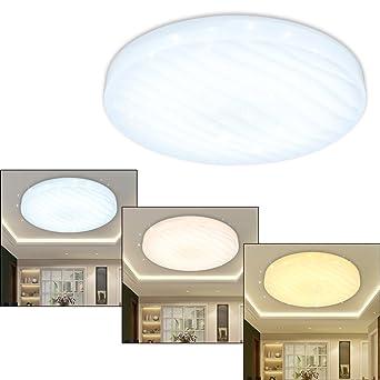 Vingo® 12W LED Deckenleuchte Wellig Sternenhimmel Mit Farbwechselfunktion  3in1 Wohnzimmer Deckenbeleuchtung Badezimmer Geeignet Farbwechsel Lampe