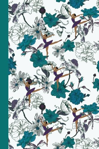Journal: Flower Dancers (Teal) 6x9 - DOT JOURNAL - Journal with dotted pages