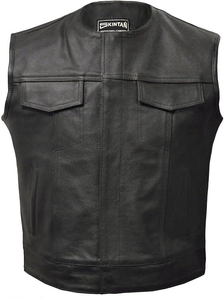 Leather Waistcoat in Black by Skintan Opie
