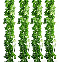 CEWOR 36pcs (236 Feet) Artificial Ivy Fake Greenery Vine Leaves for Home Wedding Garden Swing Frame Decoration