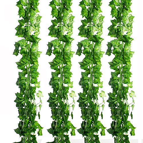 CEWOR 36pcs (236 Feet) Artificial Ivy Fake Greenery Vine Leaves for Home Wedding Garden Swing Frame Decoration by CEWOR