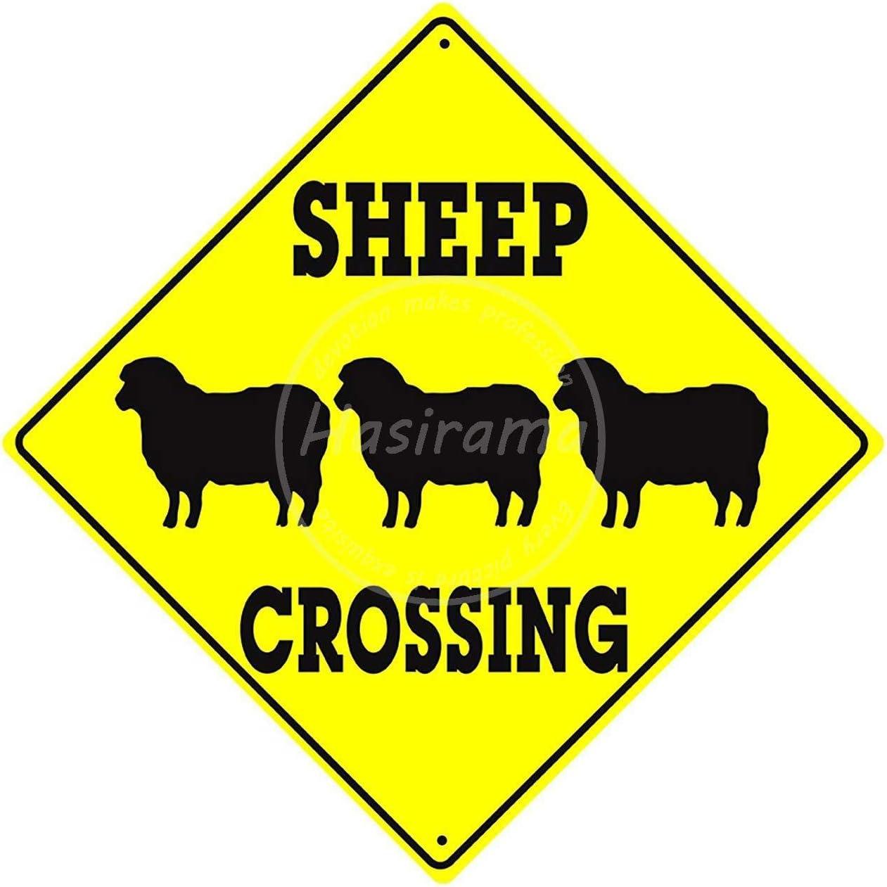 NOT Sheep Crossing Tin Wall Sign Retro Metal Poster Plaque Hanging Warning Vintage Art Yard Garden Signs Band Cafe Bar Pub Stadium Cinema Store Gift