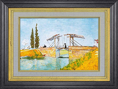 Creative 3D Visual Effect Wall Mural The Langlois Bridge by Vincent Van Gogh Peel Stick Wall Decor