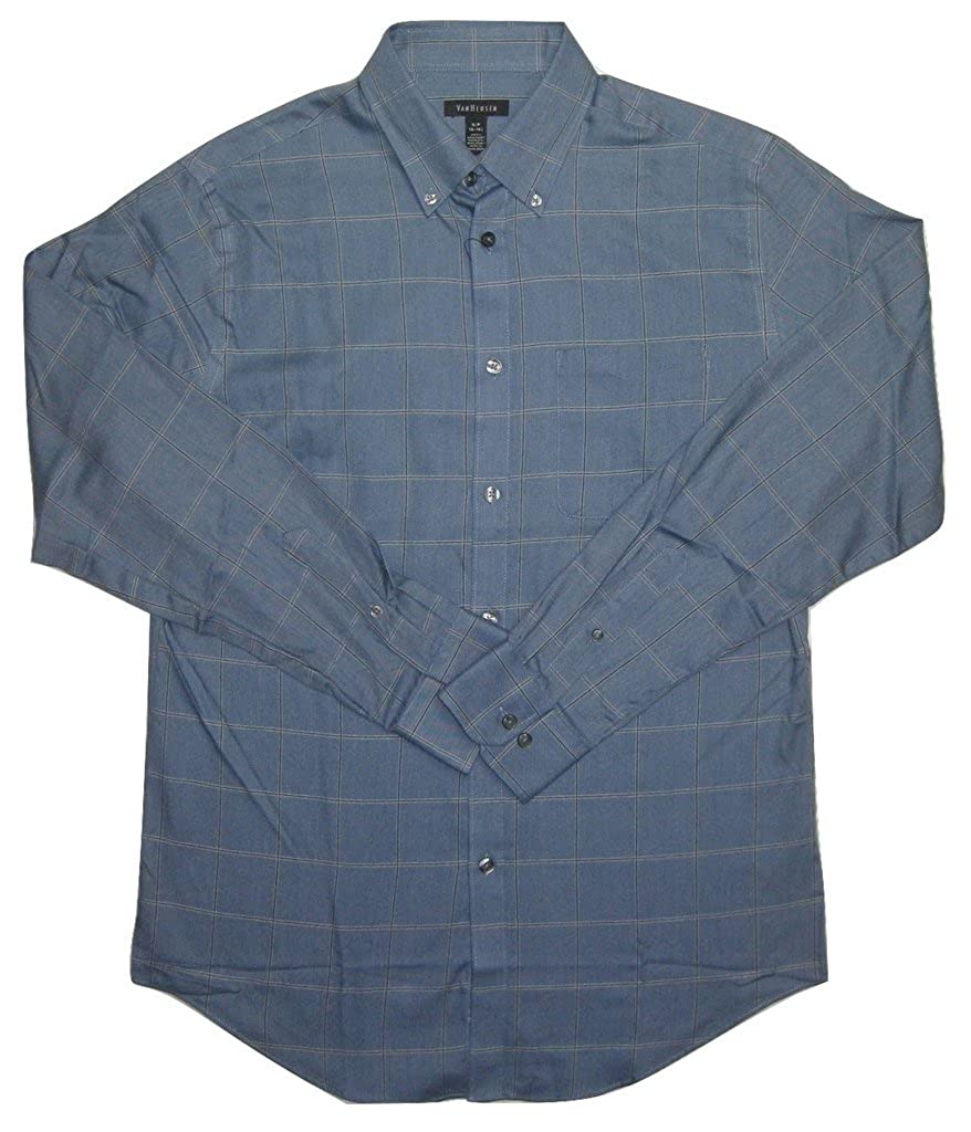 2456379ff40 Van Heusen Men s Checked Classic-Fit Button-Down Shirt