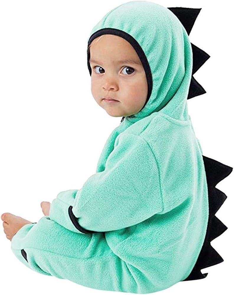 MRULIC Neugeborenes Baby Jumpsuit Outfit Dinosaurier Rei/ßverschluss mit Kapuze Spielanzug Overall Outfit Kleidung Niedlicher Babyschlafsack Onesies Herbst und Wintermodelle