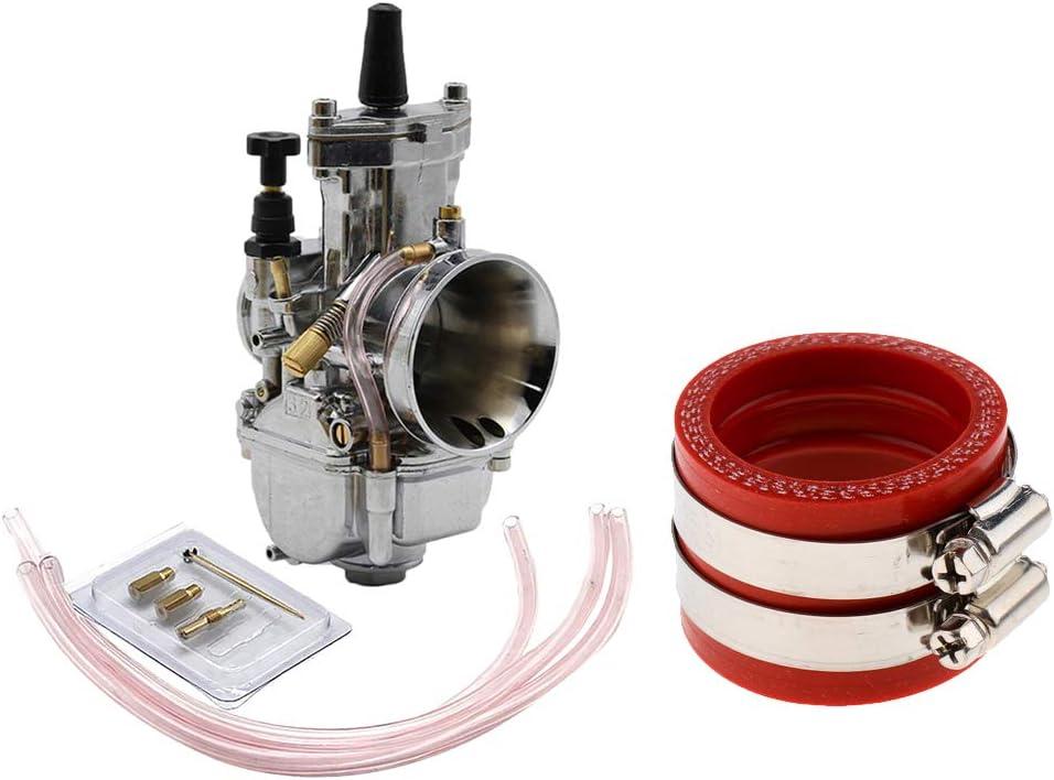 Red 32mm//34mm PWK OKO KOSO Carburetor Interface Adapter for Honda Motorcycle