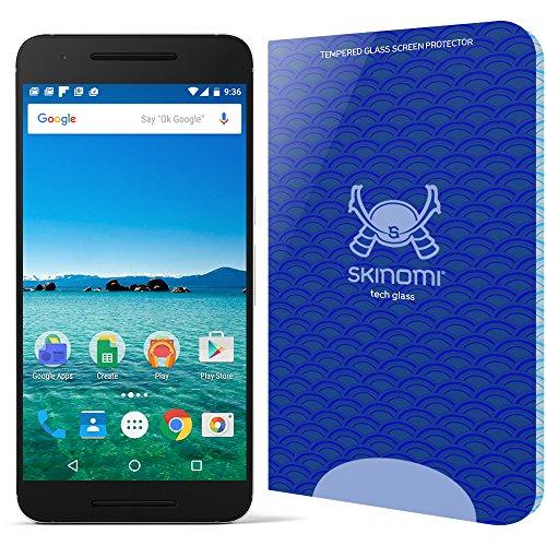 Huawei Nexus 6P Screen Protector (Google Nexus 6P), Skinomi Tech Glass Screen Protector for Huawei Nexus 6P Clear HD and 9H Hardness Ballistic Tempered Glass Shield