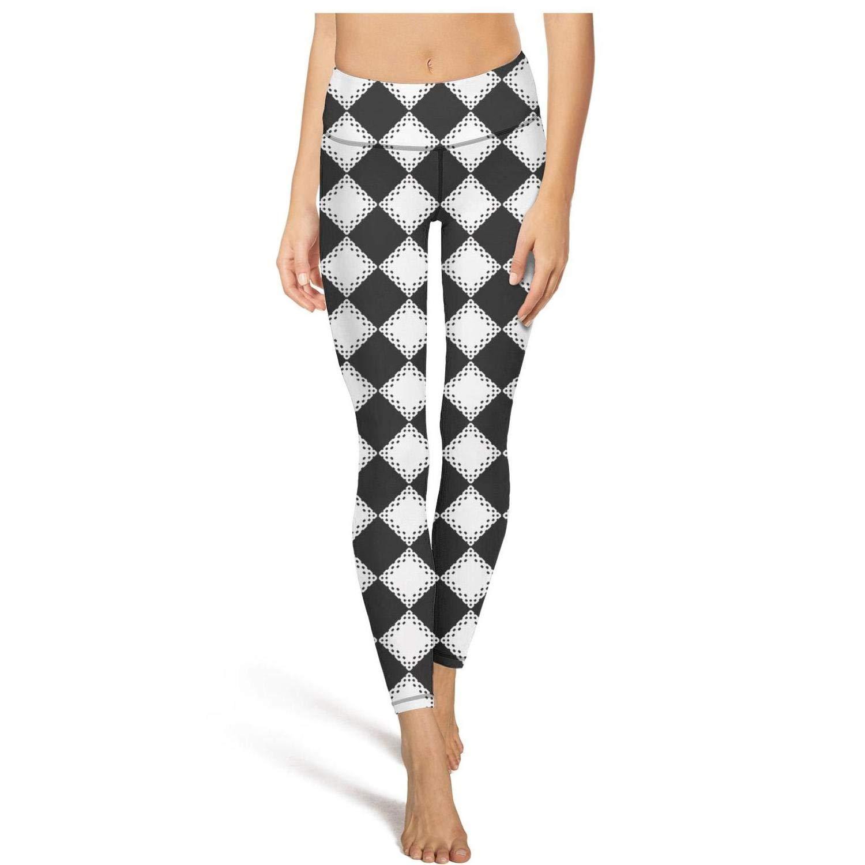 Diamond Shaped Checkerboard Women Yoga Pants High Waist Hips ...