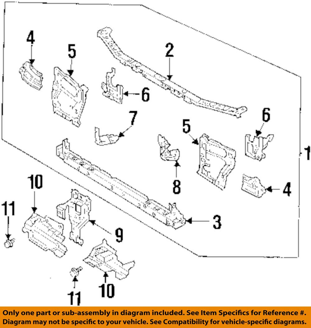 Mazda OEM 626 Radiator Core Support-Center Hood Lock Latch Support GA2K5215YB
