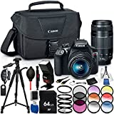 Canon EOS Rebel T6 DSLR Camera with EF-S 18-55mm f/3.5-5.6 IS II Lens - 17PC Accessory Bundle Includes 3PC Filter Kit (UV, CPL, FLD) + TTL Auto Focus Dedicated Flash + Universal Wireless Remote + MORE