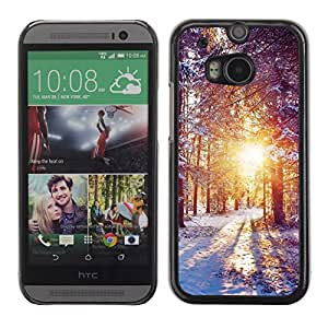 Soft Silicone Rubber Case Hard Cover Protective Accessory Compatible with HTC ONE M8 2014 - Winter Dawn