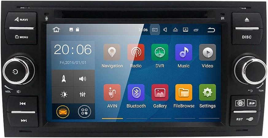 Android 7 1 7 Zoll Autoradio Für Ford Focus Fiesta Kuga Mondeo S Max C Max Galaxy Fusion Kapazitiver Touchscreen Mit Quad Core Gps Navi Radio Dvd Player 4g Wifi Aux Input Obd2 Usb Sd Dvr Amazon De