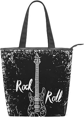 Bolsos de mujer Rock Roll Guitarra electrica Tote de lona Bolso ...