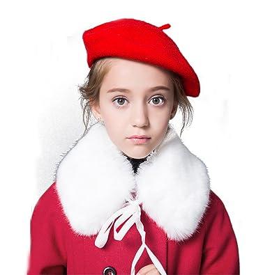 dec255b556039 Amazon   {クローバー}ベレー帽 韓国子供服 帽子 無地 卒園式 入学式 ...