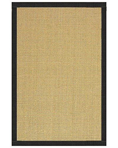 (NaturalAreaRugs Monterrey Collection Sisal Area Rug, Handmade in USA, 100% Sisal, Non-Slip Latex Backing, Durable, Stain Resistant, Eco/Environment-Friendly, (9 Feet x 12 Feet) Onyx Border)