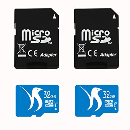 FATTYDOVE 32GB High Speed 2-Pack Micro SD Card with Adapter Compatible with  Surveillance Camera Wyze, IP Security Camera, MP3/MP4 Player(32GB U1 2