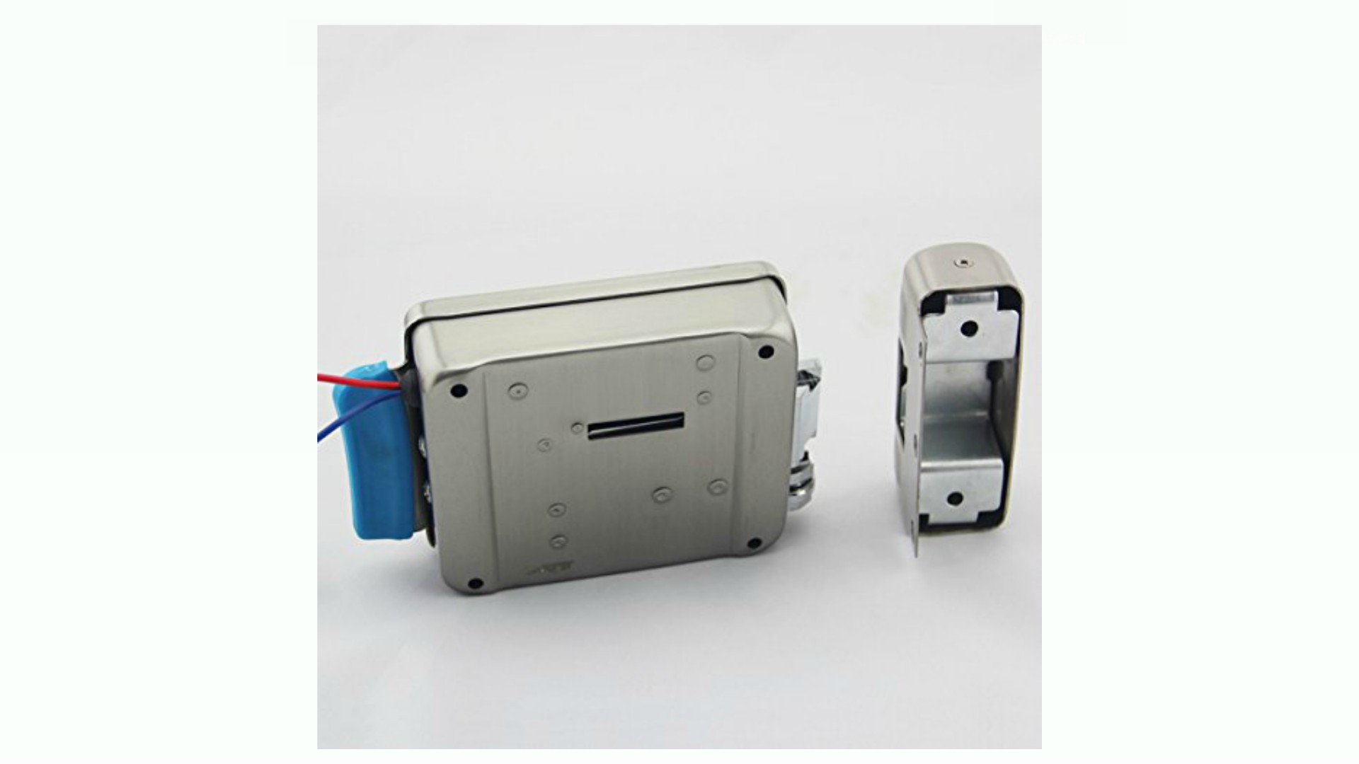 Electric Gate Lock ATI 01X Securely Buzz Visitors In Or Out Remotely: Wireless Remote Controls, Chime, Exit Button, Power Supply, 50' Electrical Cable (Uses Yale Keyway) by ATI (Image #3)