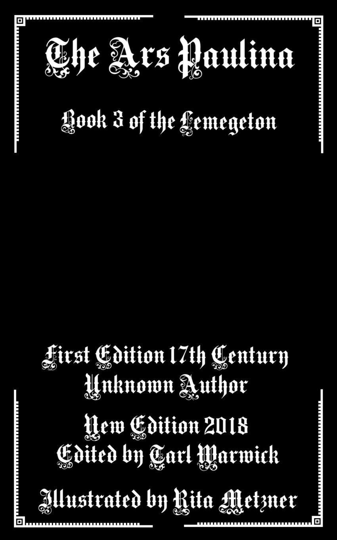 The Ars Paulina: Book 3 Of the Lemegeton ebook