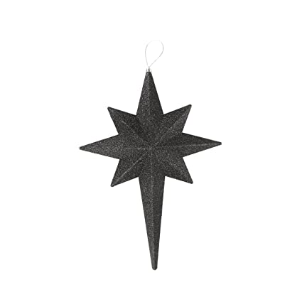 "Christmas Central 20"" Jet Black Glittered Bethlehem Star Shatterproof  Ornaments - Amazon.com: Christmas Central 20"