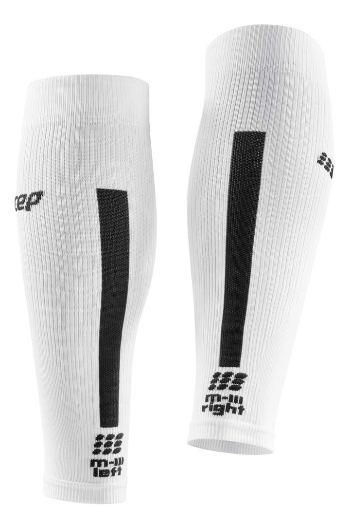CEP Women's Compression Run Sleeves Calf Sleeves 3.0, White/Dark Grey II by CEP (Image #4)
