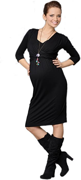 212d6568061ff 9Fashion Maternity : Ditta Dress - Black(Medium) at Amazon Women's ...