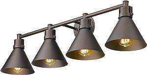Zeyu 4-Light Bathroom Light Fixtures, Farmhouse Vanity Light in Oil Rubbed Bronze Finish, ZY26-4W ORB